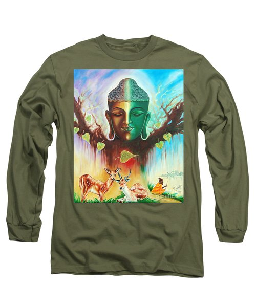 The Power Of Buddha Long Sleeve T-Shirt