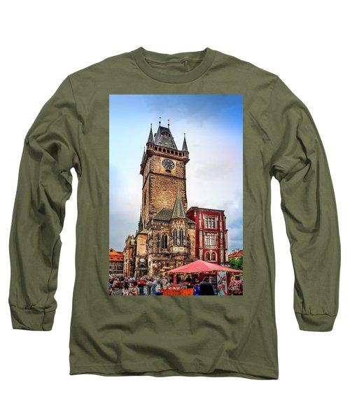 The Prague Clock Tower Long Sleeve T-Shirt