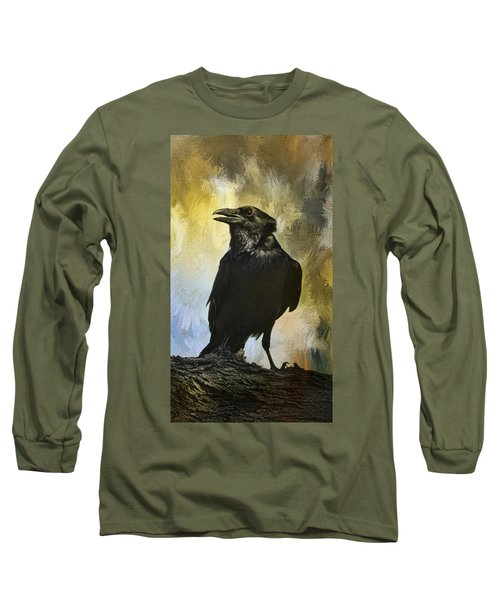 The Raven Long Sleeve T-Shirt by Barbara Manis