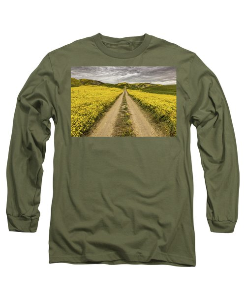 Long Sleeve T-Shirt featuring the photograph The Road Less Pollenated by Peter Tellone
