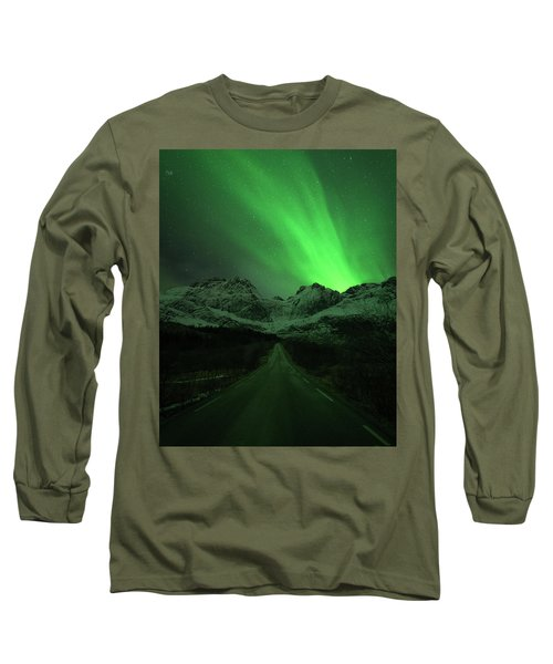The Road To Nusfjord Long Sleeve T-Shirt