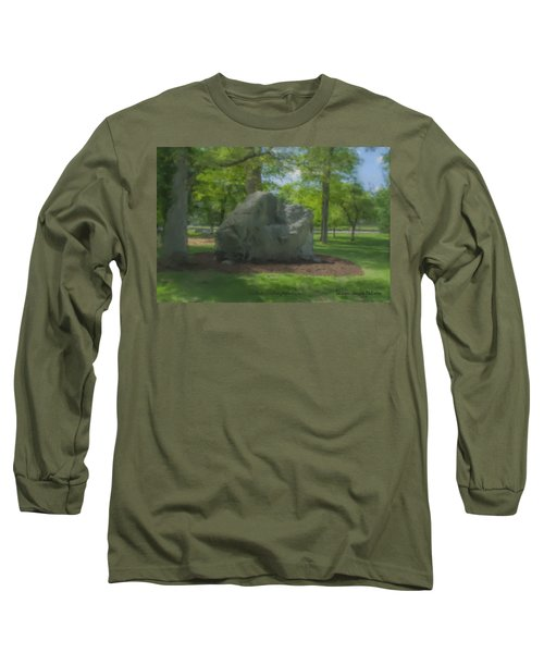 The Rock At Frothingham Park, Easton, Ma Long Sleeve T-Shirt