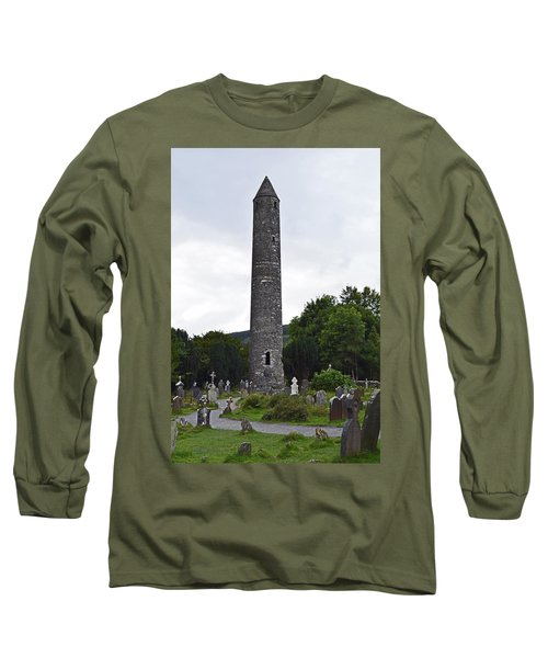 Long Sleeve T-Shirt featuring the photograph The Round Tower. by Terence Davis