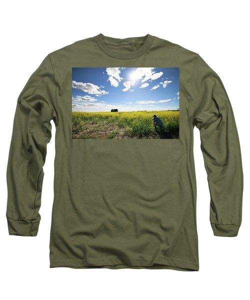 The Saskatchewan Prairies Long Sleeve T-Shirt by Ryan Crouse