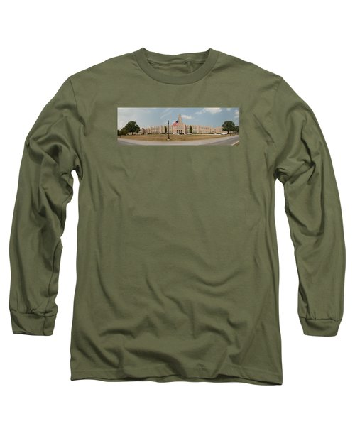 Long Sleeve T-Shirt featuring the photograph The School On The Hill Panorama by Mark Dodd