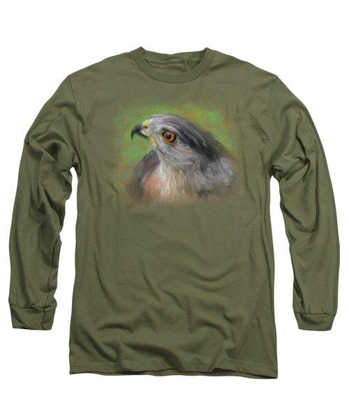 The Sharp Shinned Hawk Long Sleeve T-Shirt by Jai Johnson
