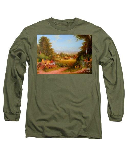 The Shire. Long Sleeve T-Shirt by Joe  Gilronan