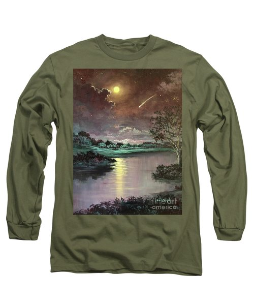 The Silence Of A Falling Star Long Sleeve T-Shirt