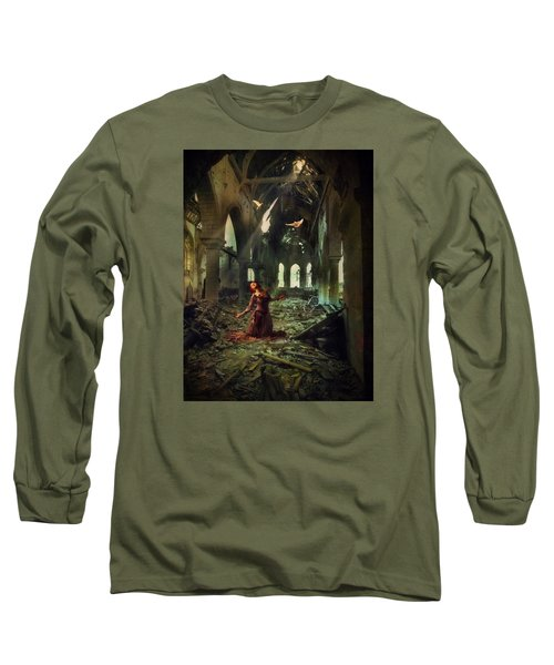 The Soul Cries Out Long Sleeve T-Shirt by John Rivera