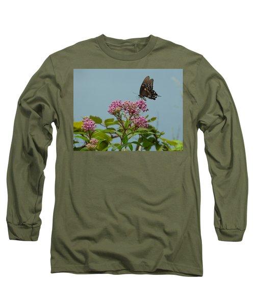 The Spicebush Swallowtail Of Prettyboy Reservoir Long Sleeve T-Shirt by Donald C Morgan