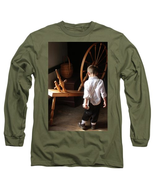 Long Sleeve T-Shirt featuring the photograph The Spinning Wheel by Emanuel Tanjala