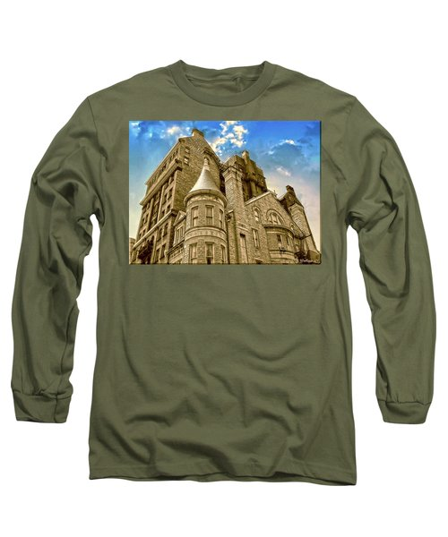 Long Sleeve T-Shirt featuring the photograph The Stafford Hotel by Brian Wallace