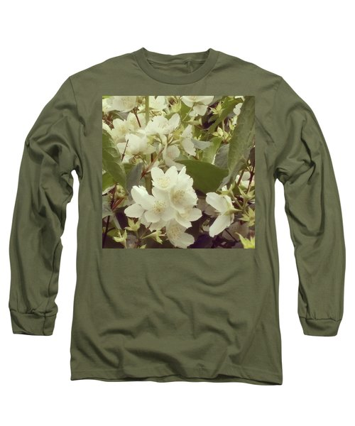 The Summer Smells Like A Mock Orange Long Sleeve T-Shirt by Arletta Cwalina
