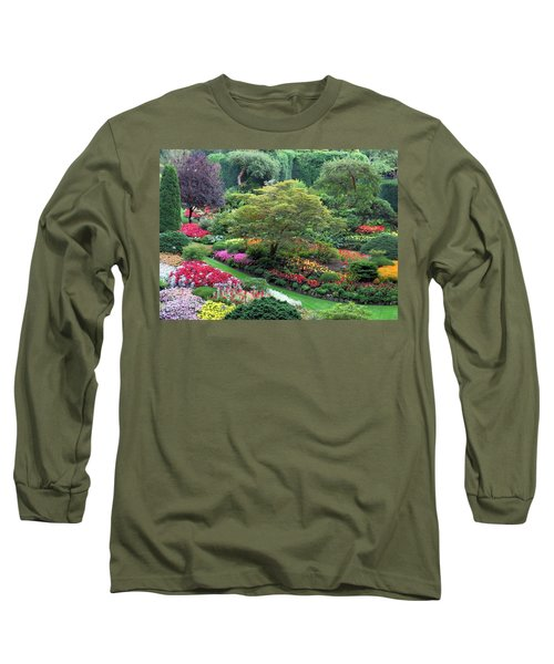 The Sunken Garden At Dusk Long Sleeve T-Shirt