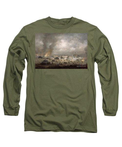 The Tanks Go In - Sword Beach  Long Sleeve T-Shirt