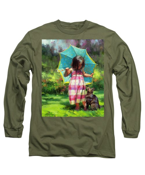 The Teal Umbrella Long Sleeve T-Shirt