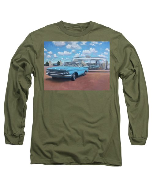 The Teepee Motel, Route 66 Long Sleeve T-Shirt