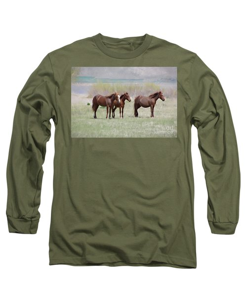 Long Sleeve T-Shirt featuring the photograph The Three Amigos by Benanne Stiens