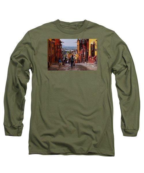 The Top Of Calle Umaran Long Sleeve T-Shirt by John  Kolenberg