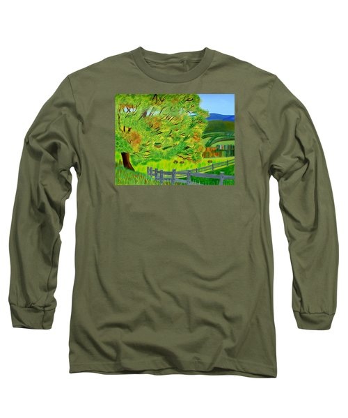 Long Sleeve T-Shirt featuring the painting The Tree Of Joy by Magdalena Frohnsdorff