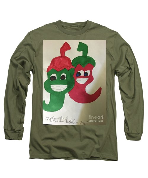The Two Hot Peppers  Long Sleeve T-Shirt