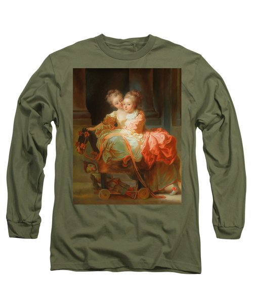 Long Sleeve T-Shirt featuring the painting The Two Sisters                                   by Jean Claude Richard