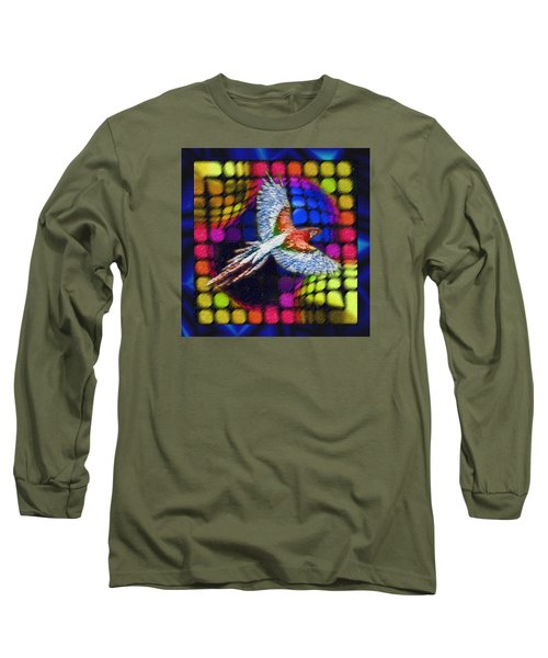 Long Sleeve T-Shirt featuring the painting The Urge To Be Free And Soar The Heavens by Mario Carini