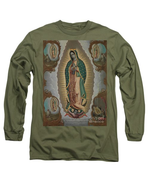 The Virgin Of Guadalupe With The Four Apparitions, 1772 Long Sleeve T-Shirt