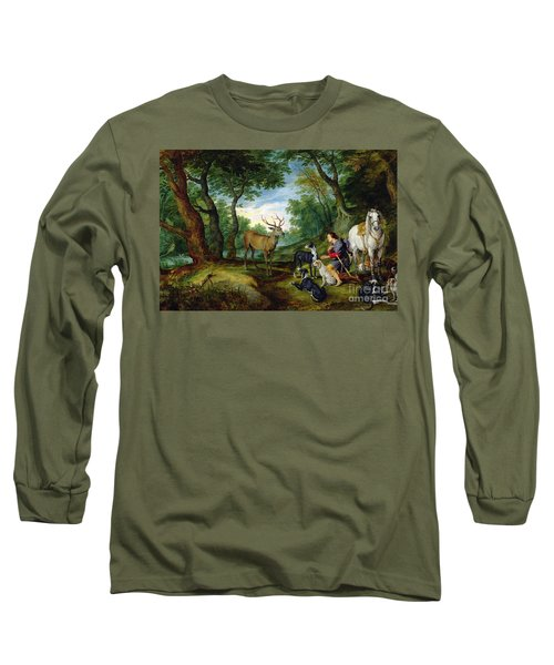 The Vision Of Saint Hubert Long Sleeve T-Shirt