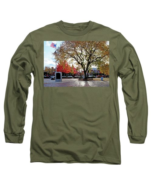 Long Sleeve T-Shirt featuring the photograph The Washington Elm by Wayne Marshall Chase