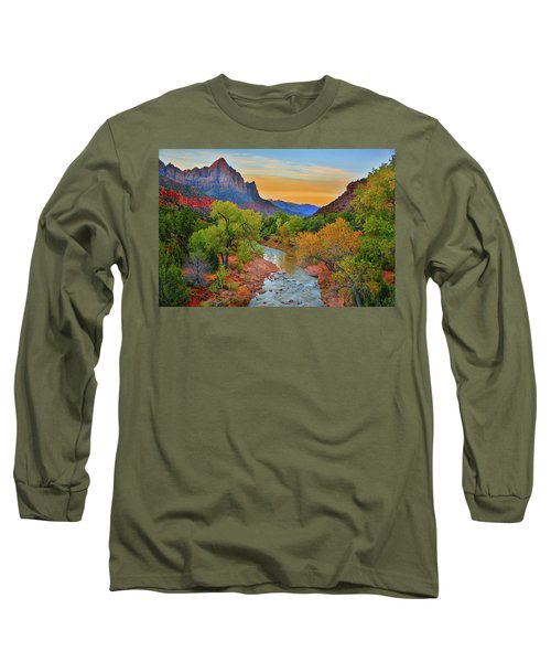 The Watchman And The Virgin River Long Sleeve T-Shirt