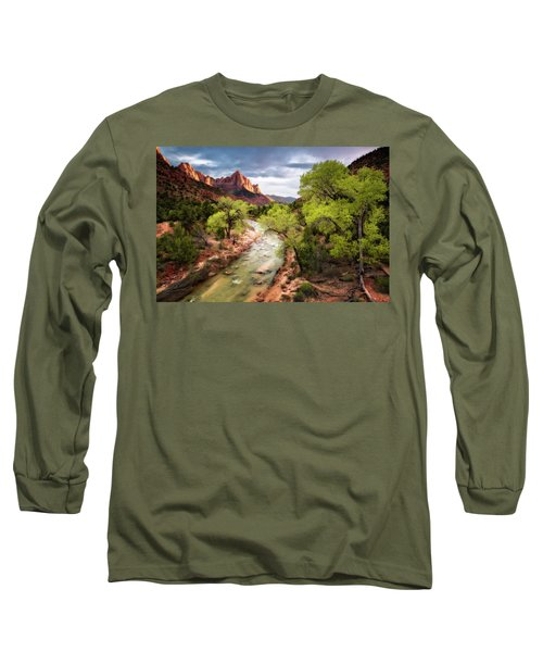 The Watchman Long Sleeve T-Shirt by Eduard Moldoveanu