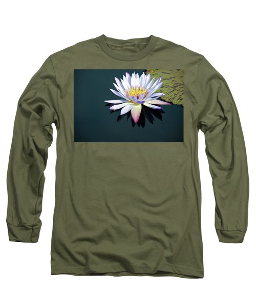 The Water Lily Long Sleeve T-Shirt by David Sutton