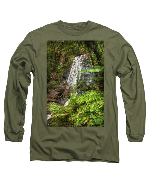 Long Sleeve T-Shirt featuring the photograph The Waterfall by Hanny Heim