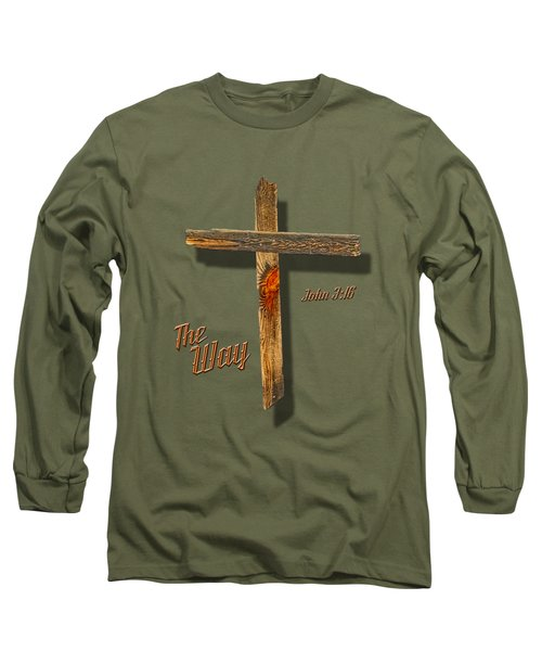 The Way  T Shirt Long Sleeve T-Shirt by Larry Bishop