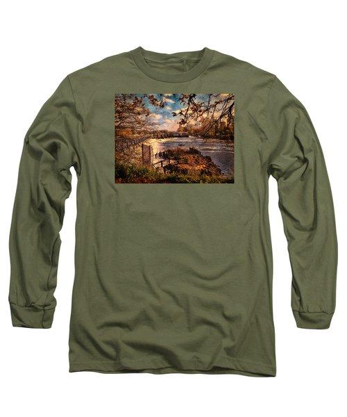 The Weir At Teddington Long Sleeve T-Shirt