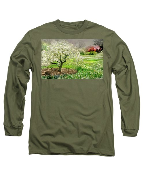 Long Sleeve T-Shirt featuring the photograph The White Canopy by Diana Angstadt
