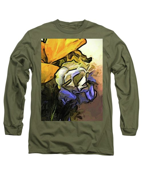 The White Rose And The Yellow Petals Long Sleeve T-Shirt