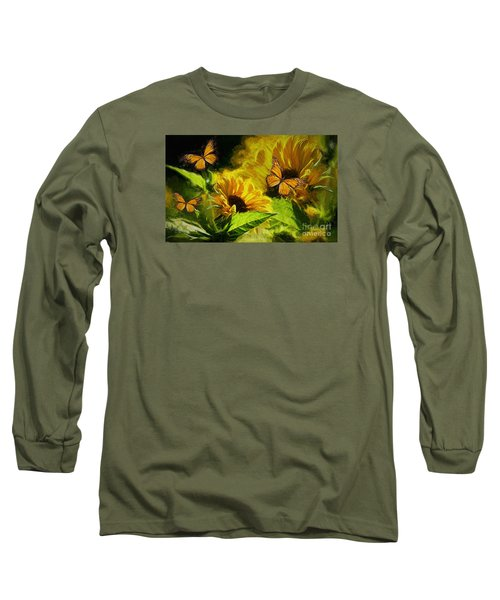 The Wings Of Transformation Long Sleeve T-Shirt by Tina  LeCour