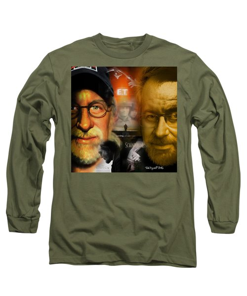 Long Sleeve T-Shirt featuring the digital art The World Of Steven Spielberg by Ted Azriel
