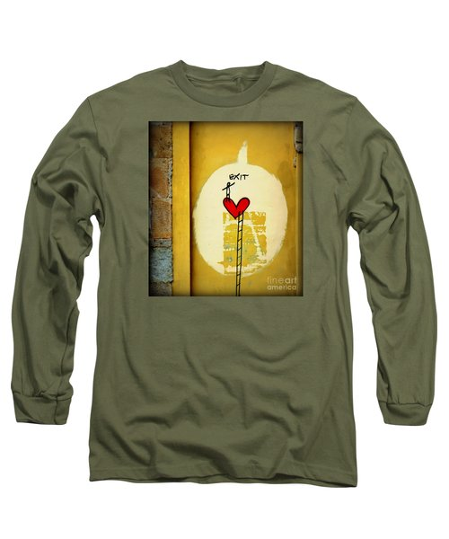 Long Sleeve T-Shirt featuring the photograph The Writing On The Wall by Tanya Searcy