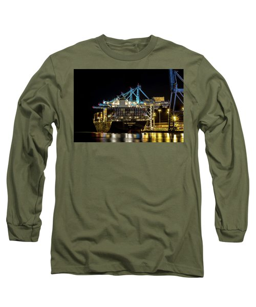 The Ym Movement Panama Unloading In The Port Of Tacoma Long Sleeve T-Shirt