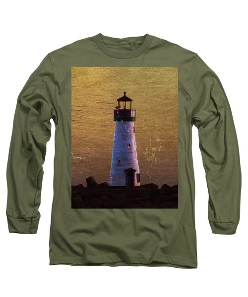 There Is A Lighthouse Long Sleeve T-Shirt by B Wayne Mullins