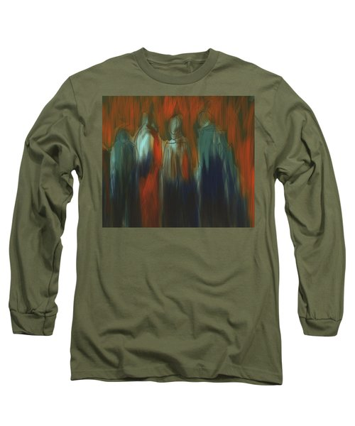 Long Sleeve T-Shirt featuring the painting There Were Four by Jim Vance