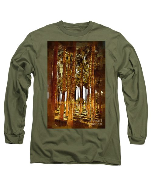 Thick Palm Trees Long Sleeve T-Shirt by Kirt Tisdale