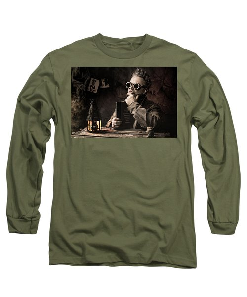 Long Sleeve T-Shirt featuring the photograph Things To Consider - Steampunk - World Domination by Gary Heller