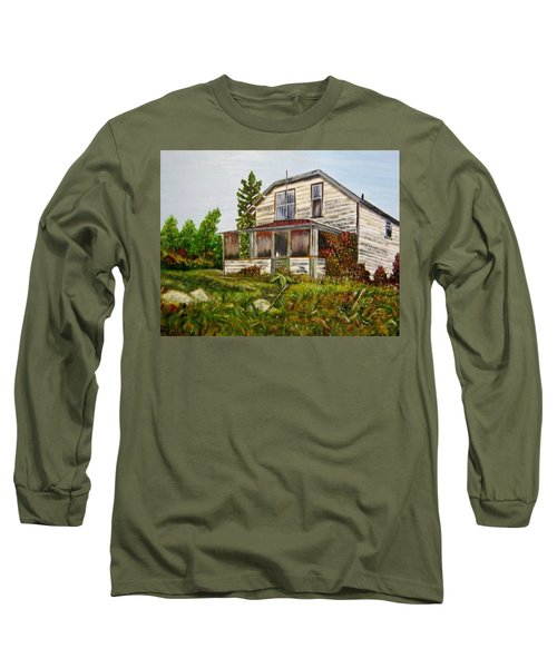 Long Sleeve T-Shirt featuring the painting This Old House by Marilyn  McNish