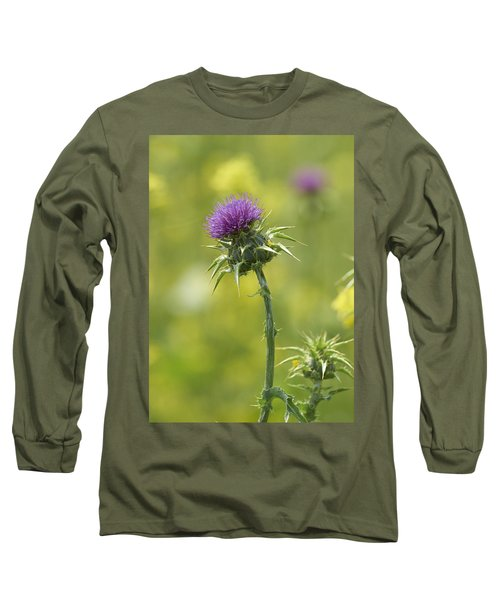 Thistle And Mustard Long Sleeve T-Shirt by Doug Herr