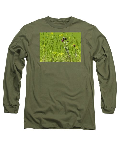 Thistle In Bear Trap Canyon Long Sleeve T-Shirt