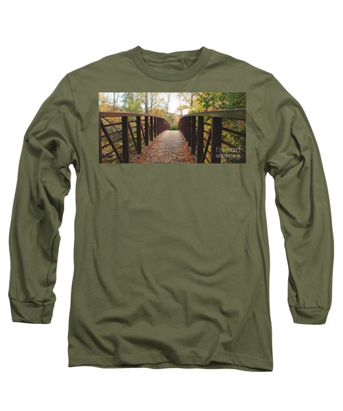 Thompson Park Bridge Stowe Vermont Long Sleeve T-Shirt by Felipe Adan Lerma